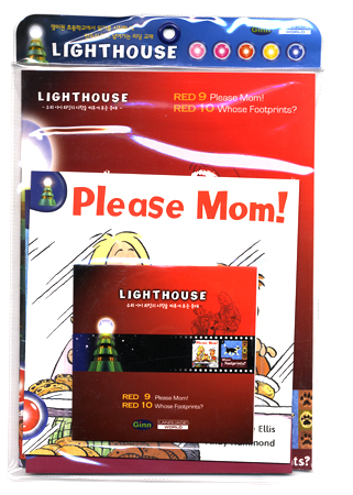 Lighthouse Red : Please Mom! / Whose Footprints? Pack (Book+Workbook+CD)