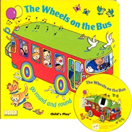 노부영 The Wheels On The Bus Go Round And Round (Paperbook+CD)