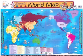 Wallchart Bruno's World Map