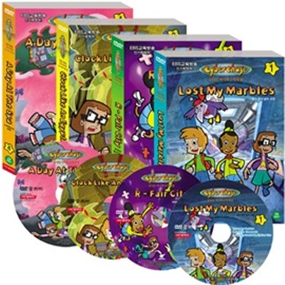 신나는 사이버 수학 세상 Cyberchase DVD 4종Set