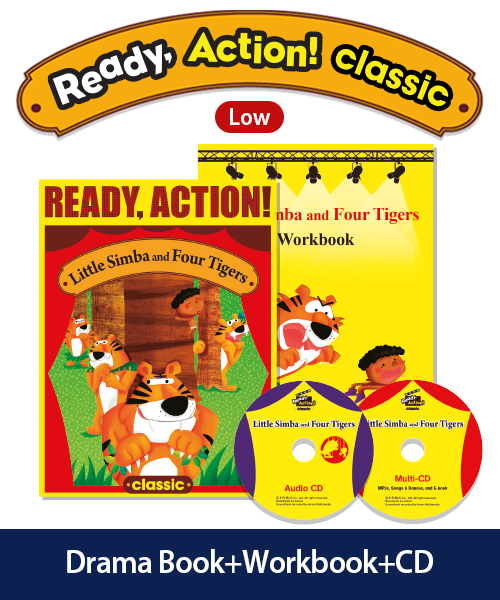 Ready Action Classic Low Level Little Simba and Four Tigers Pack (Student's Book+Workbook+CD)