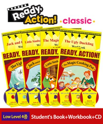 Ready Action Classic Low Level 4종 Set (Student's Book+Workbook+CD)