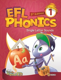 EFL Phonics 1 (Student Book + Workbook + Digital CD/Audio CD) [3rd Edition] : Single Letter Sounds