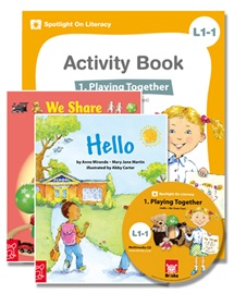 Spotlight on Literacy Level 1-1 Playing Together (2 Storybooks + 1 Activity Book + Multimedia CD)