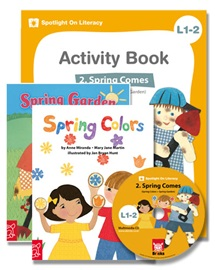 Spotlight on Literacy Level 1-2 Spring Comes (2 Storybooks + 1 Activity Book + Multimedia CD)