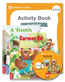 Spotlight on Literacy Level 1-4 Let's Eat (2 Storybooks + 1 Activity Book + Multimedia CD)