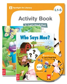 Spotlight on Literacy Level 1-5 Let's Find Out (2 Storybooks + 1 Activity Book + Multimedia CD)