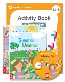 Spotlight on Literacy Level 1-6 Summer Fun (2 Storybooks + 1 Activity Book + Multimedia CD)