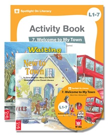 Spotlight on Literacy Level 1-7 Welcome to My Town (2 Storybooks + 1 Activity Book + Multimedia CD)