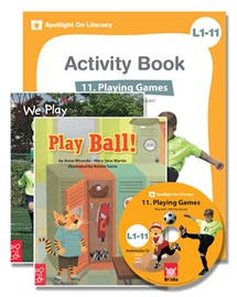 Spotlight on Literacy Level 1-11 Playing Games (2 Storybooks + 1 Activity Book + Multimedia CD)