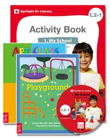 Spotlight on Literacy Level 2-1 My School (2 Storybooks + 1 Activity Book + Multimedia CD)