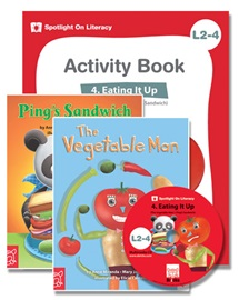 Spotlight on Literacy Level 2-4 Eating It Up (2 Storybooks + 1 Activity Book + Multimedia CD)