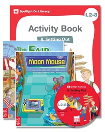 Spotlight on Literacy Level 2-8 Setting Out (2 Storybooks + 1 Activity Book + Multimedia CD)
