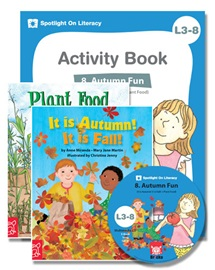 Spotlight on Literacy Level 3-8 Autumn Fun (2 Storybooks + 1 Activity Book + Multimedia CD)