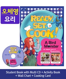 [오체영] Ready, Set, Cook! 2 A Bird Monster Pack (Studentbook + Multi CD + Activitybook + Wall Chart + Cooking Card)