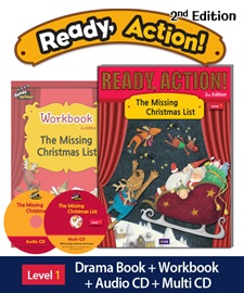 Ready Action 1 The Missing Christmas List Pack (Student's Book+Workbook+CD+Multi-CD) [2nd Edition]