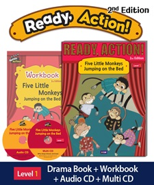 Ready Action 1 Five Little Monkeys Jumping on the Bed Pack (Student's Book+Workbook+CD+Multi-CD) [2nd Edition]