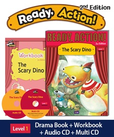 Ready Action 1 The Scary Dino Pack (Student's Book+Workbook+CD+Multi-CD) [2nd Edition]