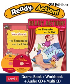 Ready Action 1 The Shoemaker and the Elves Pack (Student's Book+Workbook+CD+Multi-CD) [2nd Edition]