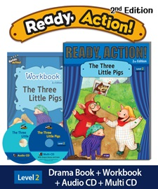 Ready Action 2 The Three Little Pigs Pack (Student's Book+Workbook+CD+Multi-CD) [2nd Edition]