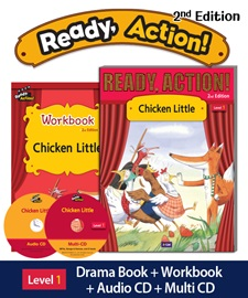 Ready Action 1 Chicken Little Pack (Student's Book+Workbook+CD+Multi-CD) [2nd Edition]