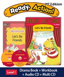 Ready Action 1 Let's Be Friends Pack (Student's Book+Workbook+CD+Multi-CD) [2nd Edition]