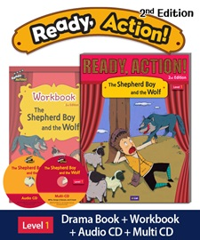 Ready Action 1 The Shepherd Boy and the Wolf Pack (Student's Book+Workbook+CD+Multi-CD) [2nd Edition]