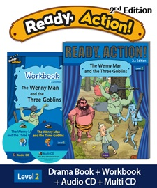 Ready Action 2E 2: The Wenny Man and the Three Goblins [SB+WB+Audio CD+Multi-CD]
