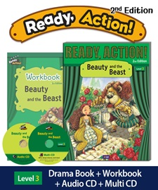 Ready Action 3 Beauty and the Beast Pack (Student's Book+Workbook+CD+Multi-CD) [2nd Edition]