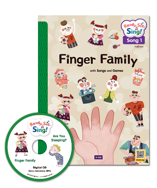 [오체영] Ready, Set, Sing! Family : Finger Family / Are you Sleeping? (Student Book + Digital CD + Activity Book + Saypen Sticker + Template)