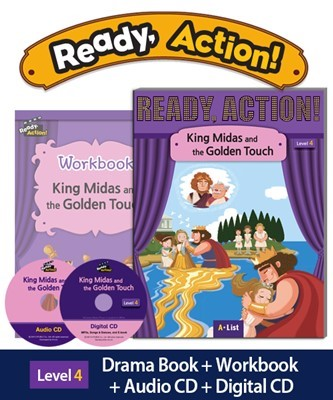 Ready Action 4 King Midas and the Golden Touch (SB+WB+Audio/Digital CD pack) [2nd Edition]