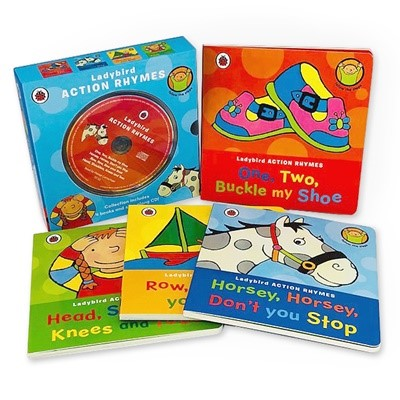 Ladybird Action Rhymes Collection With CD (4 Boardbooks + 1 CD)