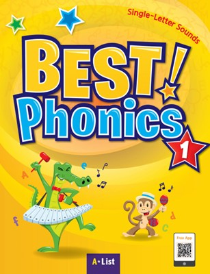 Best Phonics 1: Single-Letter Sounds (Student Book, DVD-ROM, MP3 CD, Readers)