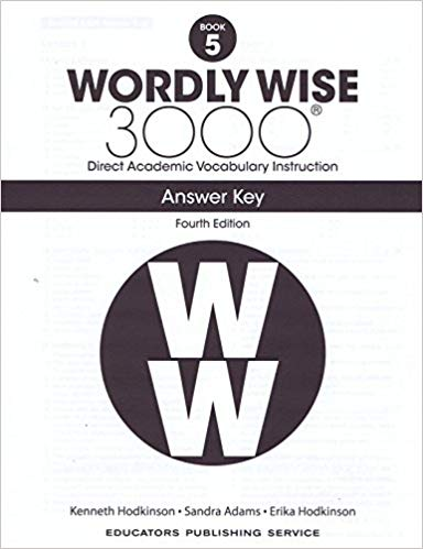 EPS-Wordly Wise 3000: Book 05 Answer Key [4th Edition]
