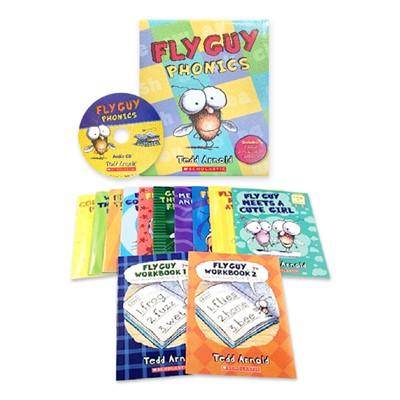 Fly Guy Phonics Boxed Set (12 Books + 1 Audio CD)