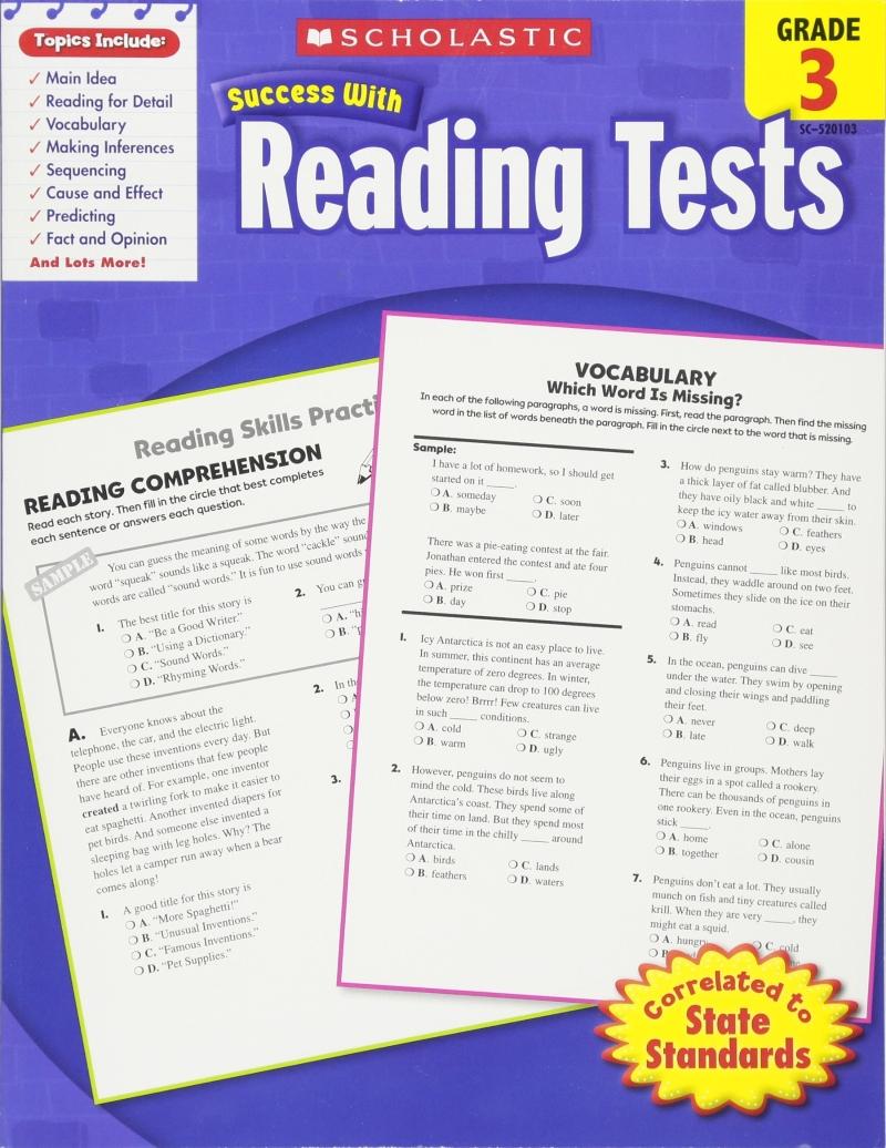 [행사]Success With Test:Reading Grade 3 (W/B) New