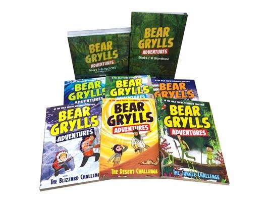 Bear Grylls Adventures 1~6 Book+MP3 CD+Wordbook Full Set