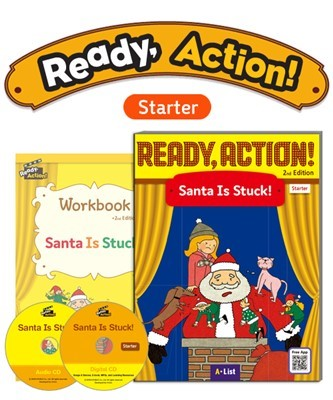 Ready Action 2E Starter Santa Is Stuck! Pack (SB with Audio CD, Digital CD, Workbook)