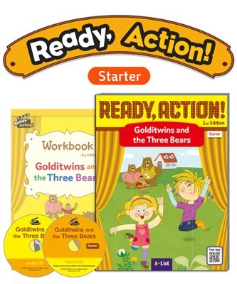 Ready Action 2E Starter Golditwins and the Three Bears Pack (SB with Audio CD, Digital CD, Workbook)