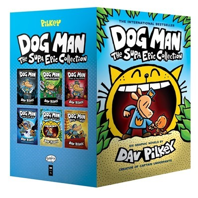 Dog Man #1-6 Boxed Set:The Supa Epic Collection: From the Creator of Captain Underpants (H)