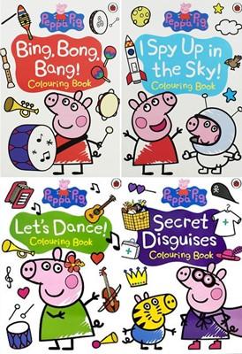 Peppa Pig Colouring : 페파피그 컬러링북 4권 세트