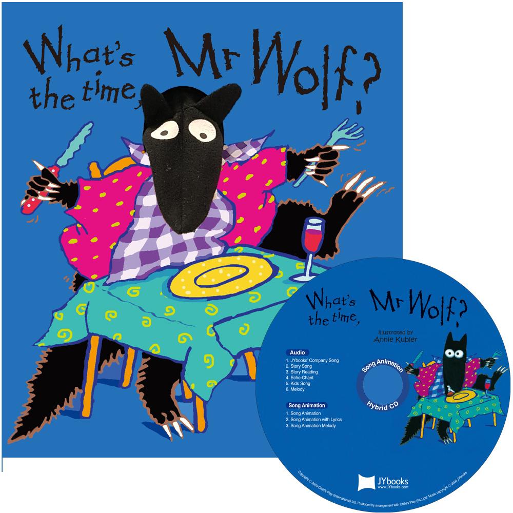 노부영 송 애니메이션 세이펜 What's the Time, Mr Wolf? (PB & CD)