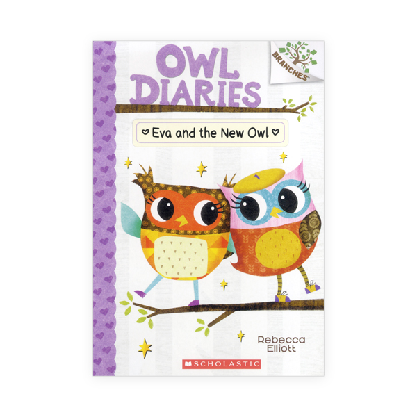 Owl Diaries #4:Eva and the New Owl (A Branches Book)