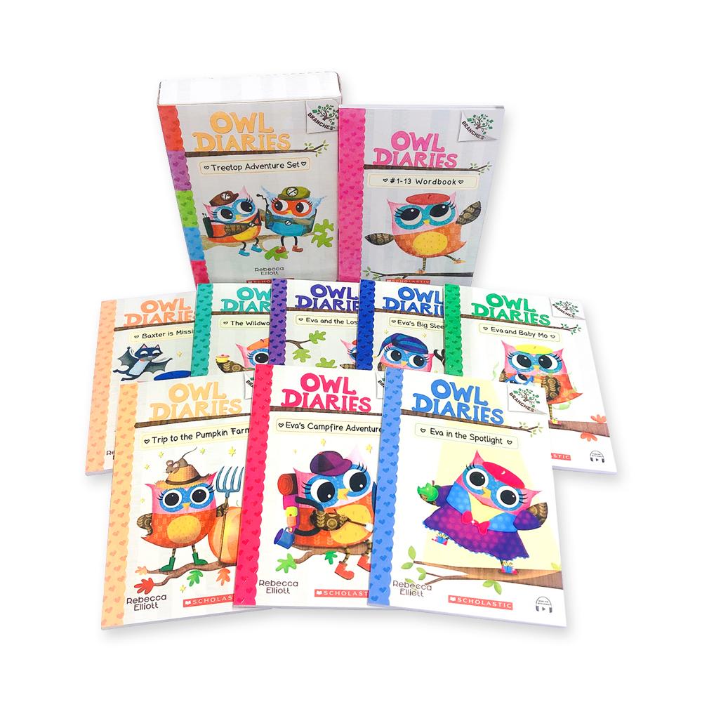 ?Owl Diaries #1-13 (Book+CD+Wordbook) Set (with StoryPlus QR)