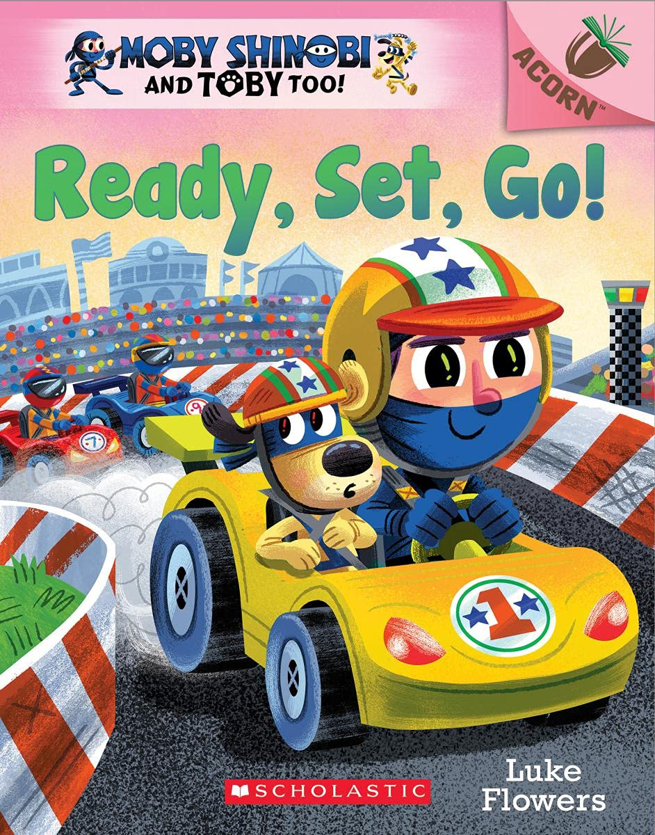 Moby Shinobi and Toby, Too! #3: Ready, Set, Go! (An Acorn Book)