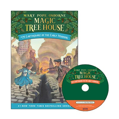 Magic Tree House #24 Earthquake In The Early Morning (Paperback+Audio CD)