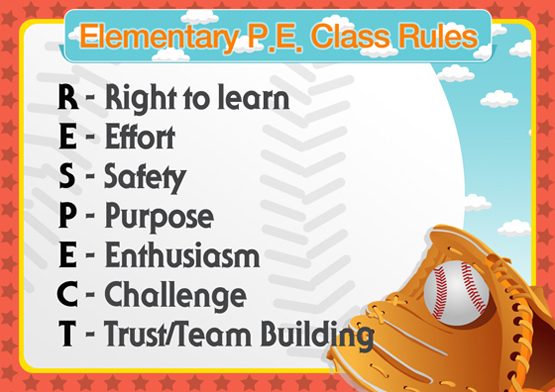 Elementary P.E Class Rules1