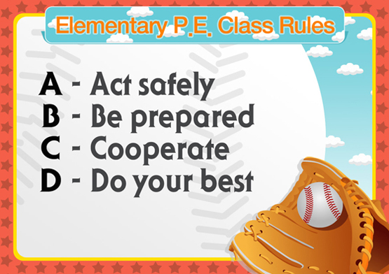 Elementary P.E Class Rules2